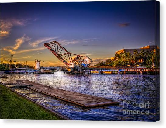 University Of Florida Canvas Print - Cass Street Bridge by Marvin Spates