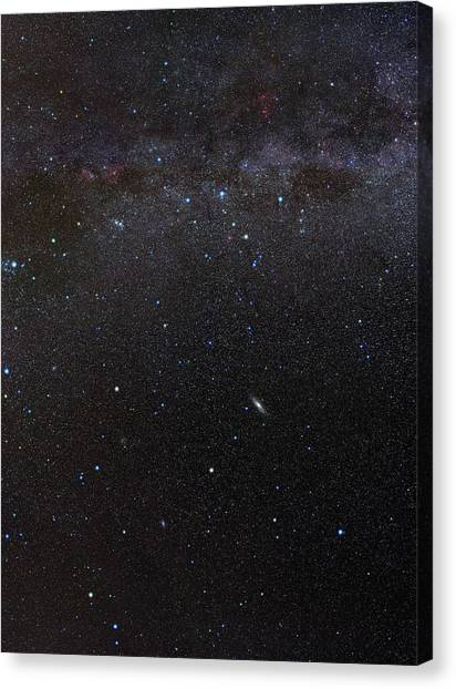Delta Gamma Canvas Print - Cassiopeia Constellation And Andromeda by Eckhard Slawik