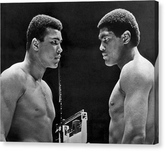 Press Conference Canvas Print - Cassius Clay Gives Whammy Eye by Underwood Archives