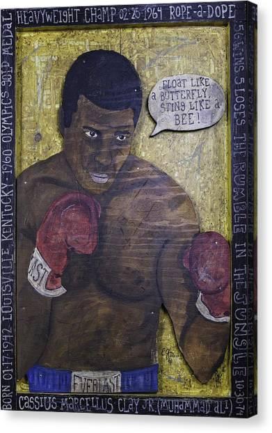 Cassius Clay - Muhammad Ali Canvas Print
