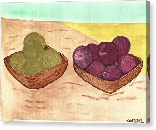 Castaway Fruit Canvas Print
