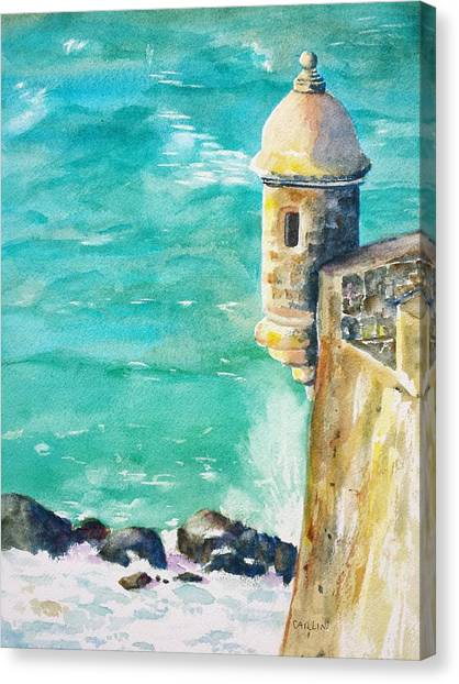 Castillo De San Cristobal Ocean Sentry  Canvas Print