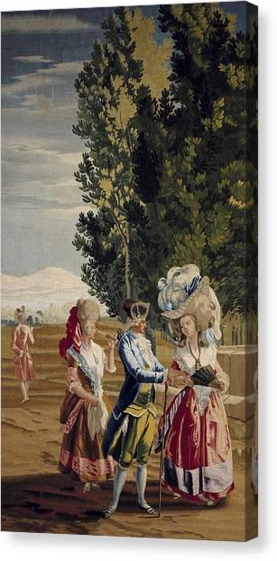 Fabric Of Society Canvas Print - Castillo, Jos� Del 1737-1793. The Lady by Everett