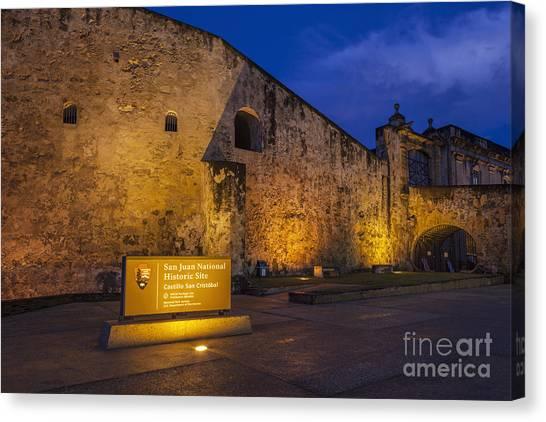 Canvas Print featuring the photograph Castillo San Cristobal In Old San Juan Puerto Rico by Bryan Mullennix