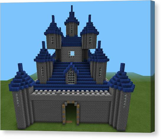 Minecraft Canvas Print - Castle by Andy Drew