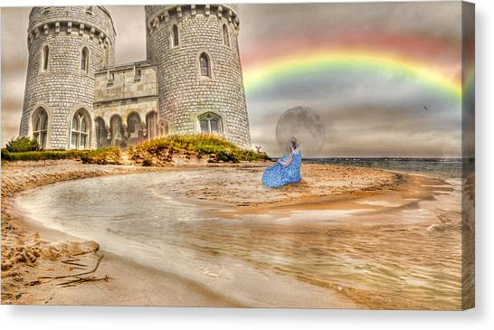 Sand Castles Canvas Print - Castle By The Sea by Betsy Knapp