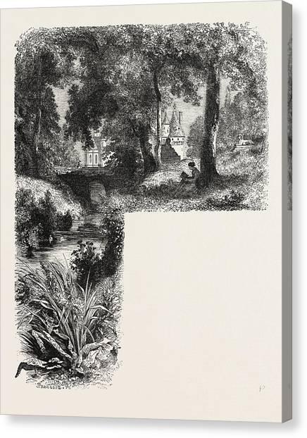 Chenonceau Castle Canvas Print - Castle Chenonceaux by Litz Collection