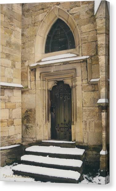 Castle Door Canvas Print by Paula Rountree Bischoff