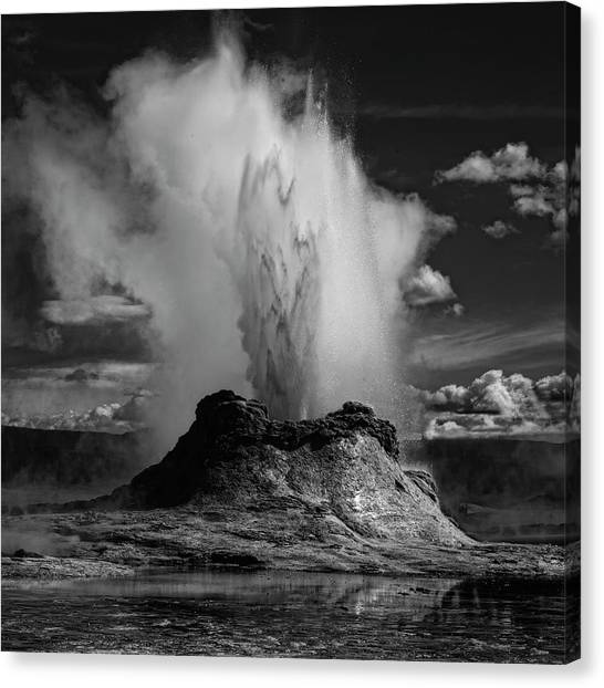 Yellowstone Canvas Print - Castle Geyser by Yvette Depaepe