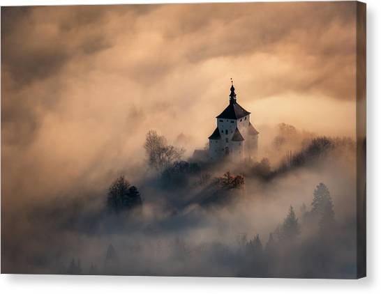 Trip Canvas Print - Castle In Fire by Peter Kov??ik