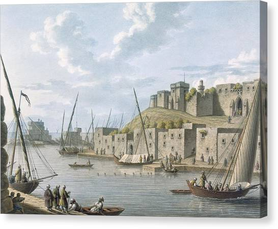 Syrian Canvas Print - Castle In The Island Of Tortosa, 1805 by William Watts