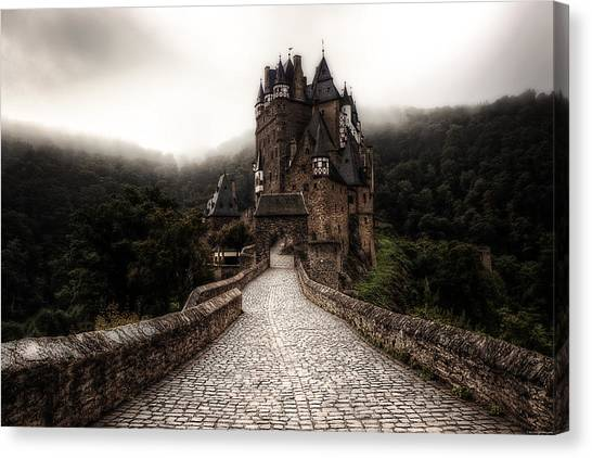 Castle Canvas Print - Castle In The Mist by Ryan Wyckoff