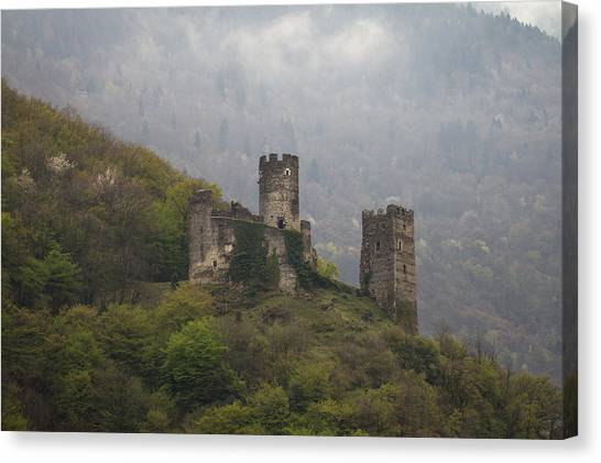Castle In The Mountains. Canvas Print