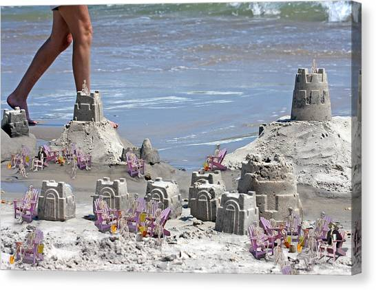 Sand Castles Canvas Print - Castle Kingdom  by Betsy Knapp