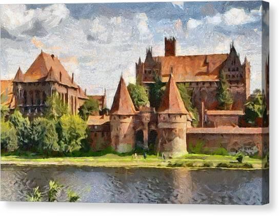 Castle Malbork Poland Canvas Print