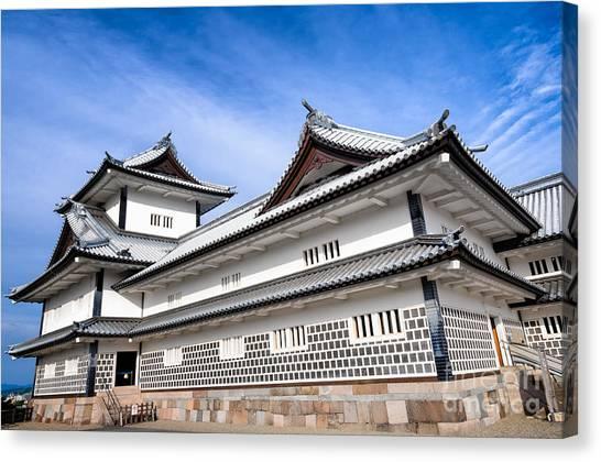 Castle Of Japan Canvas Print
