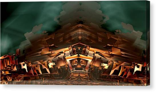 Castle Of Lost Souls Canvas Print by Ricky Jarnagin