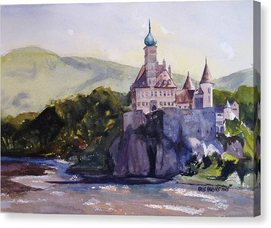 Danube Canvas Print - Castle On The Danube by Kris Parins