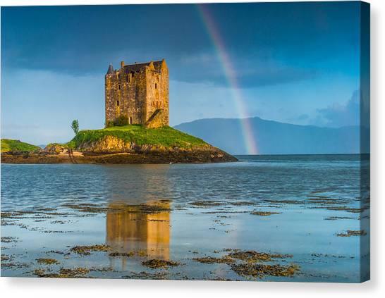 Castle Stalker Rainbow Canvas Print by David Ross