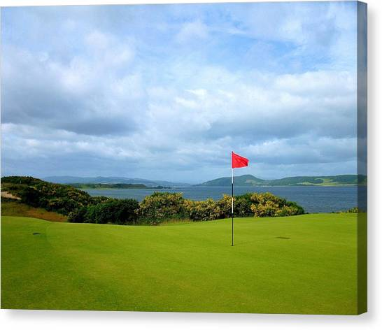 Phil Mickleson Canvas Print - Castle Stuart Golf Links by Scott Carda
