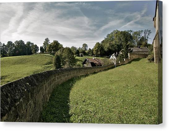 Castle Wall In Tittmoning Germany Canvas Print