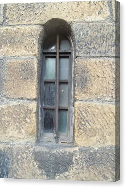 Castle Window Canvas Print