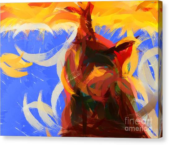 Pablo Picasso Canvas Print - Cat Abstract Art by Pixel Chimp