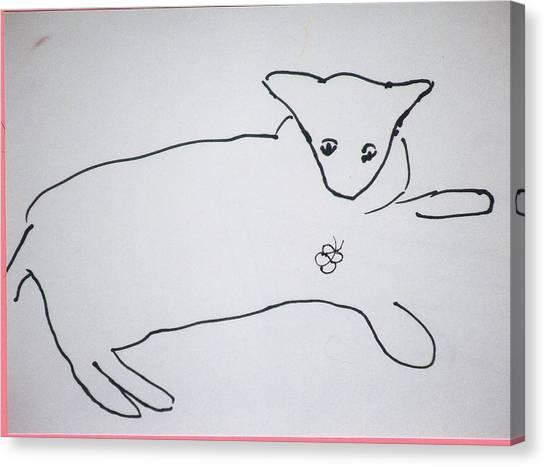 Cat Drawing Canvas Print