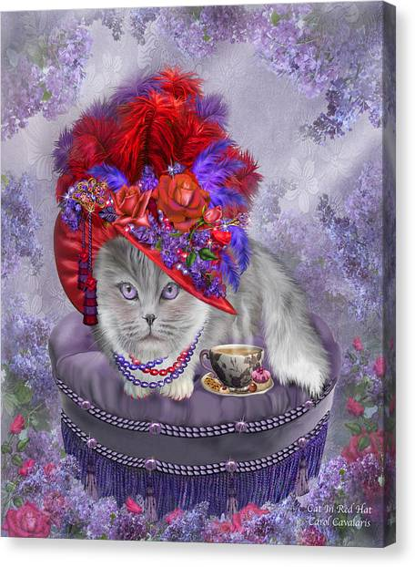 Cat In The Red Hat Canvas Print