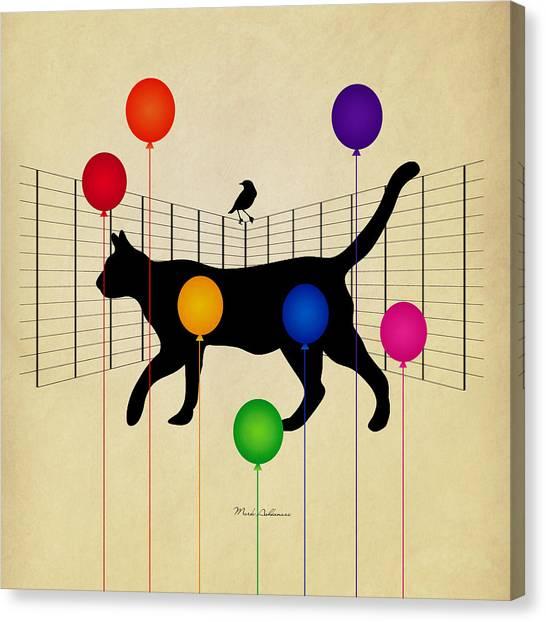 Cats Canvas Print - cat by Mark Ashkenazi