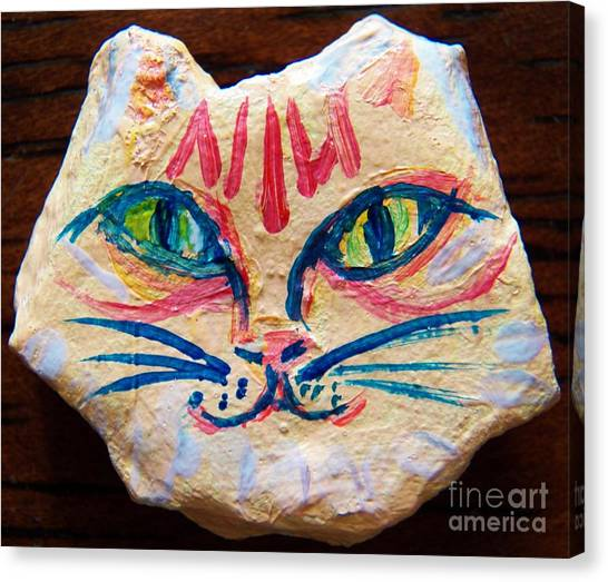 Cat Rock Canvas Print by Judy Via-Wolff