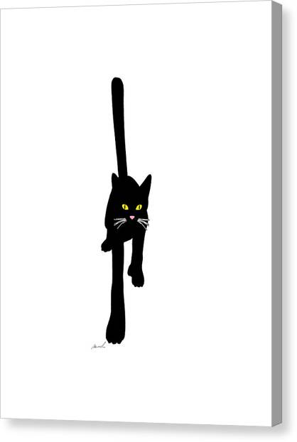 Cat Stepping Forward Canvas Print by The Art of Marsha Charlebois