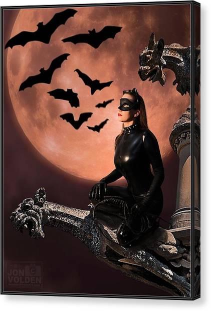 Cat Vs Bat Canvas Print