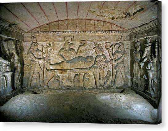 Hellenistic Art Canvas Print - Catacomb by Patrick Landmann/science Photo Library