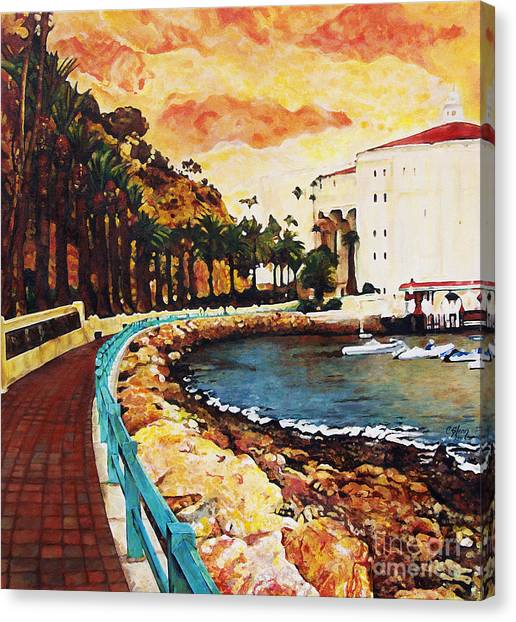 Catalina Island Canvas Print by Carrie Jackson