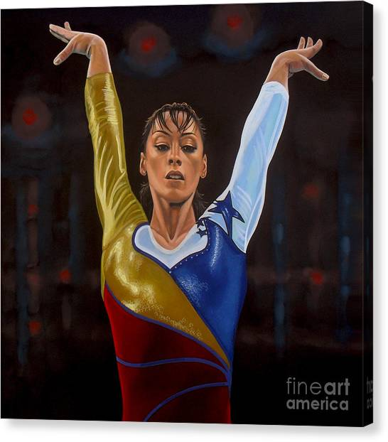 Balance Beam Canvas Print - Catalina Ponor by Paul Meijering