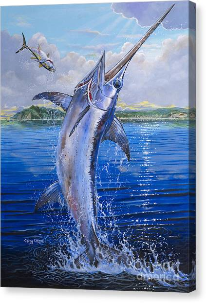 Swordfish Canvas Print - Catalina Sword Off0045 by Carey Chen