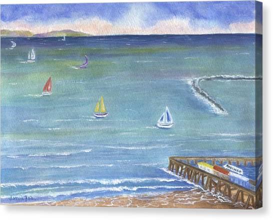 Catalina To Redondo Canvas Print