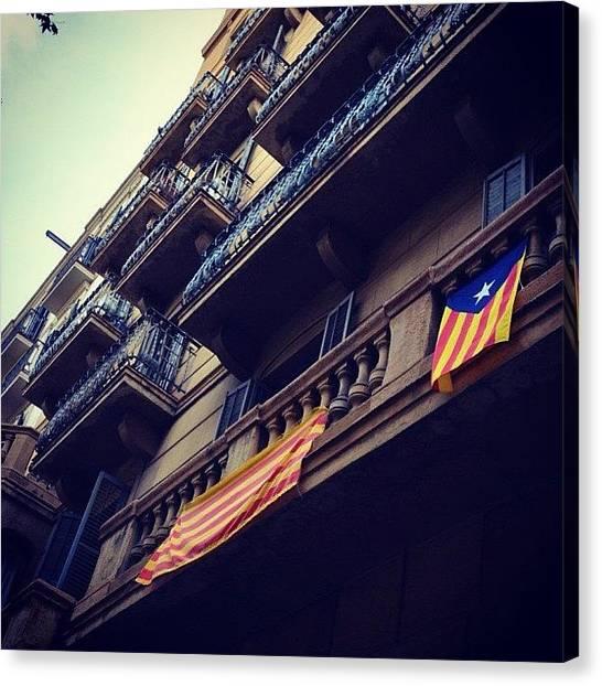 Street Scenes Canvas Print - Catalonia, Barcelona, Spain by Go Takey