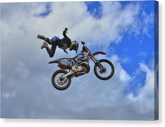 Motocross Canvas Print - Catch Me If You Can by Reid Callaway