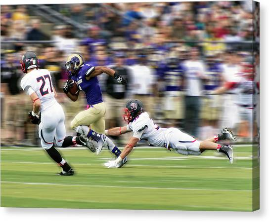 Fast Ball Canvas Print - Catch Me If You Can by Rob Li