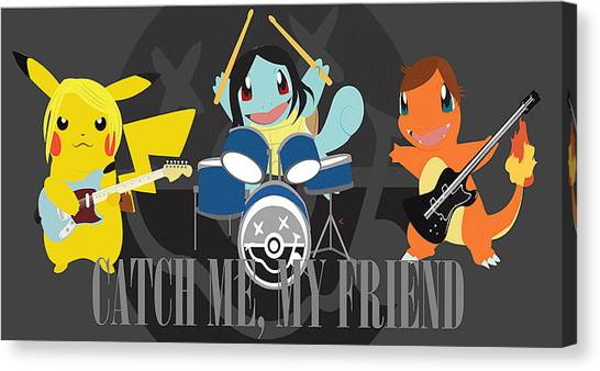 Gameboy Canvas Print - Catch Me My Friend by Scott  Colson