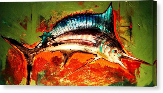 Swordfish Canvas Print - Catch Of The Day by Andrew Hewkin