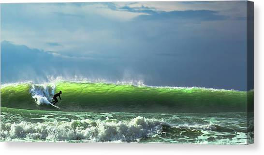 Surf Canvas Print - Catch The Wave by Massimo Mei