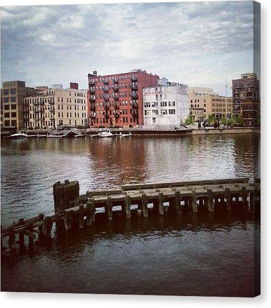 Warehouses Canvas Print - Catch Ya Later Milwaukee by Jill Tuinier