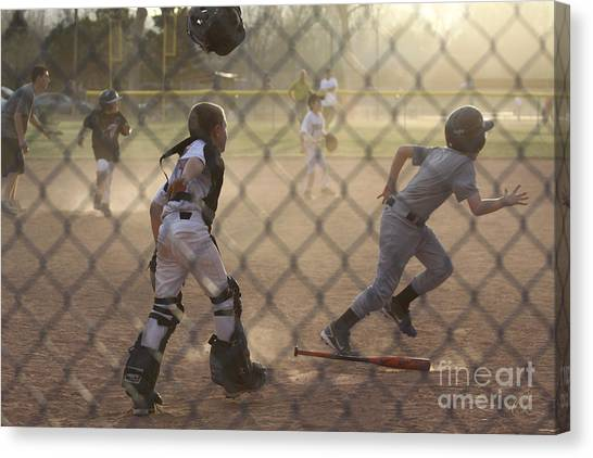 Catcher In Action Canvas Print