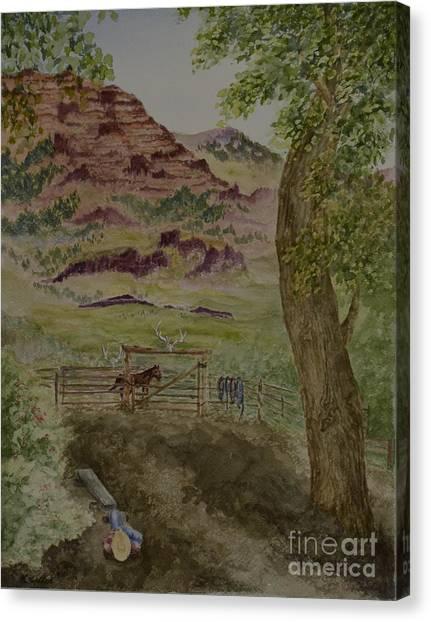 Catching A Few Winks  Canvas Print by Kathleen Keller