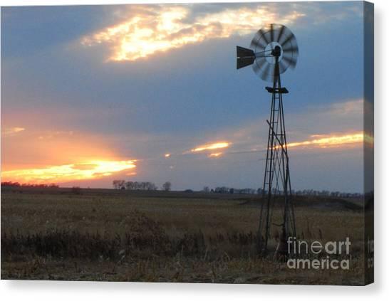 Catching The Wind In South Dakota Canvas Print