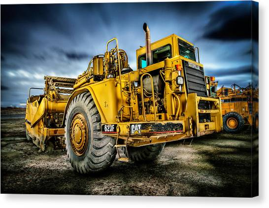 Caterpillar Cat 623f Scraper Canvas Print