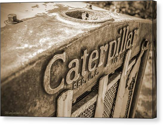 Caterpillar Vintage Canvas Print